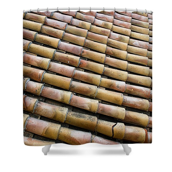 Nafplio Roof Tiles Shower Curtain