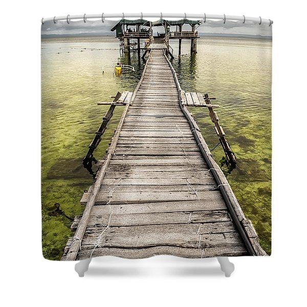 Nalusuan Island Pier Shower Curtain