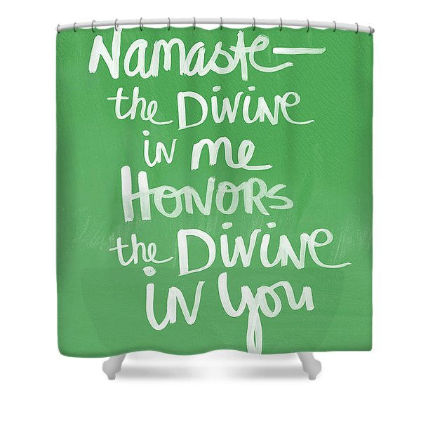 Namaste Card Shower Curtain