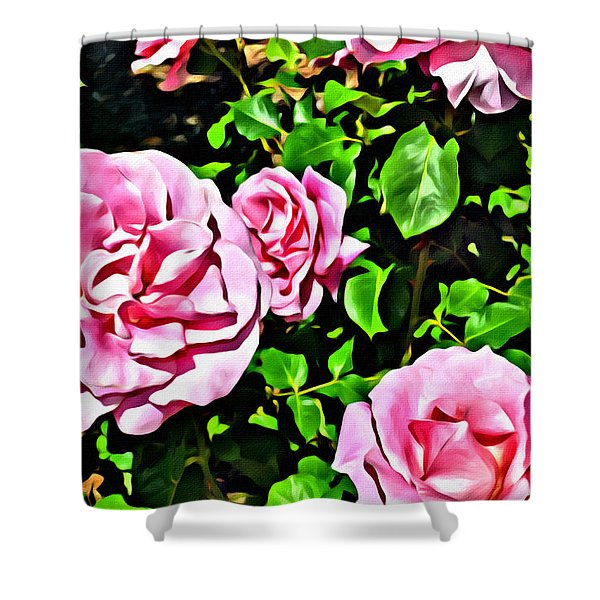 Nana's Roses Shower Curtain