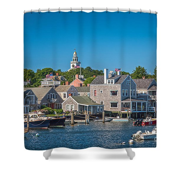 Nantucket Town Shower Curtain