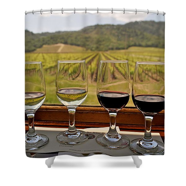 Napa Valley Wine Train Delights Shower Curtain