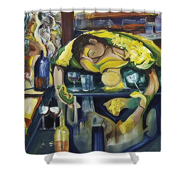 Narcisisstic Wine Bar Experience - After Caravaggio Shower Curtain