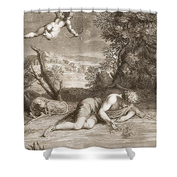Narcissus Transformed Into A Flower Shower Curtain