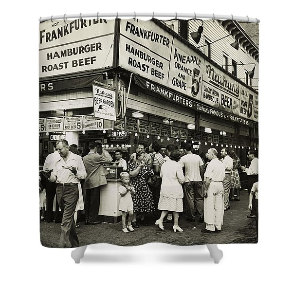 Nathan's Famous Frankfurters - Nyc 1947 Shower Curtain