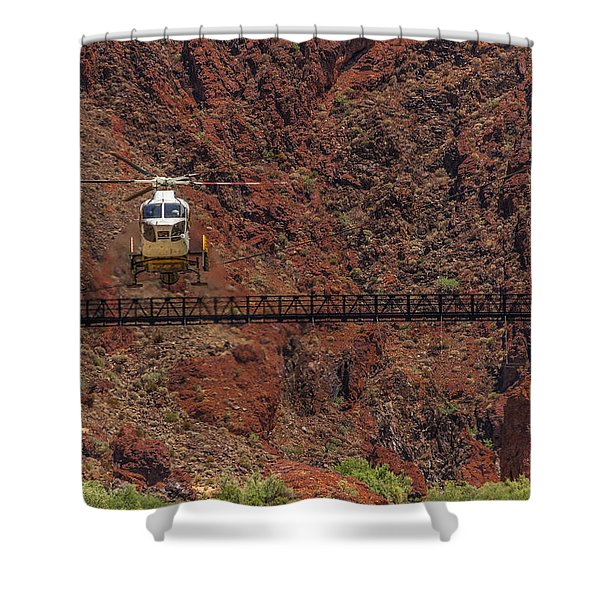 National Park Helicopter Shower Curtain