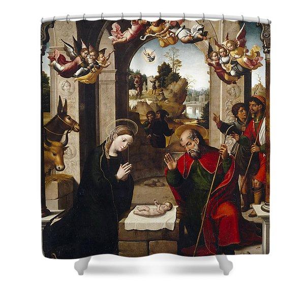 Nativity Shower Curtain