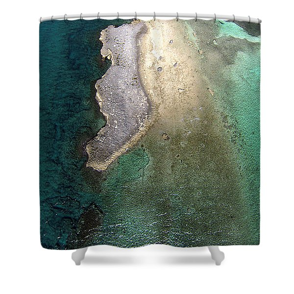 Natural Colors In The Bahamas Shower Curtain