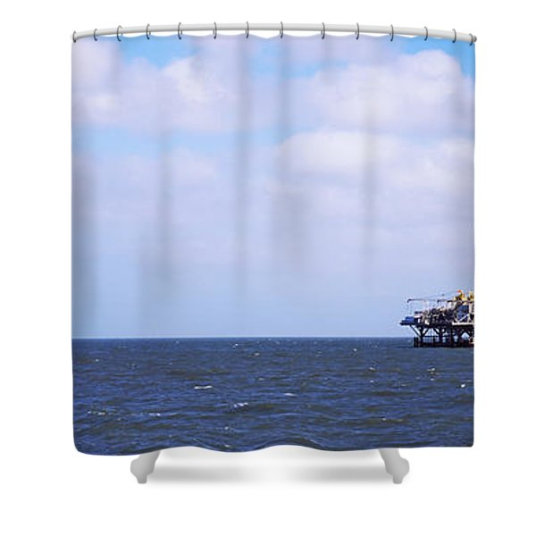Natural Gas Drilling Platform In Mobile Shower Curtain