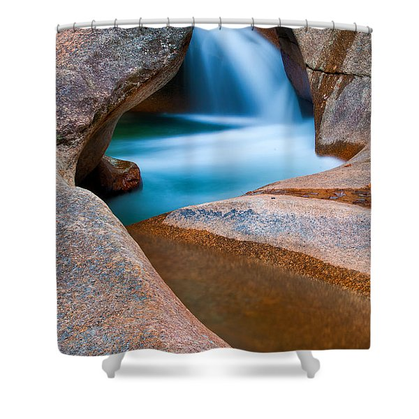 Natural Sculpture - Basin Formations Shower Curtain