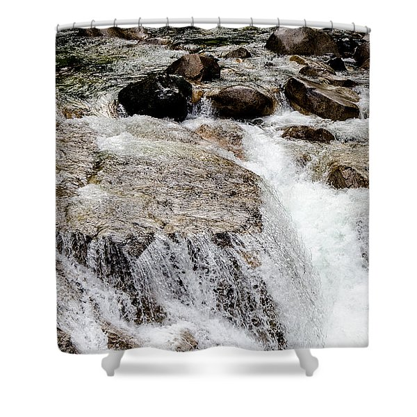 Backroad Waterfall Shower Curtain