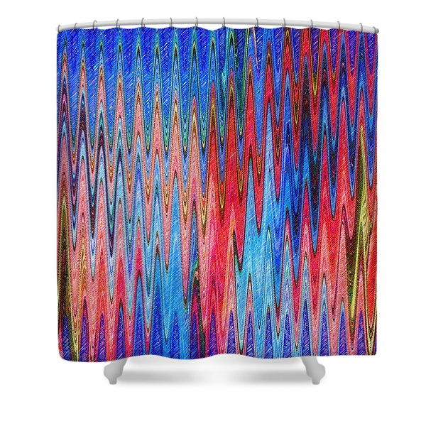Natures Electrocardiogram Shower Curtain