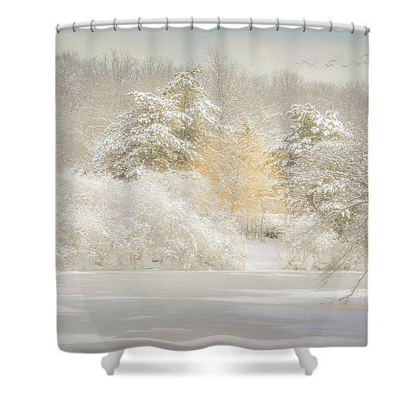 Natures Winter Landscape Shower Curtain