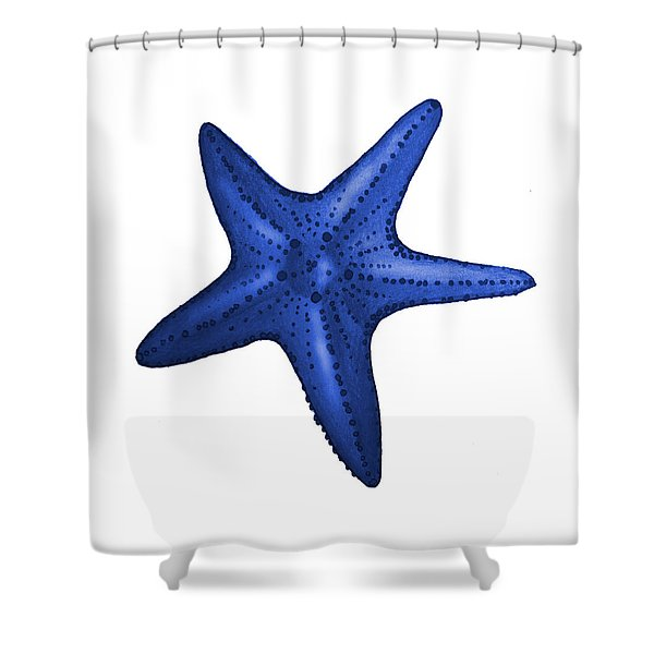 Nautical Blue Starfish Shower Curtain
