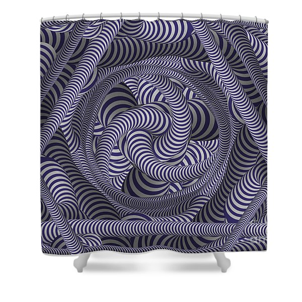 Nautical Coloured Design Shower Curtain