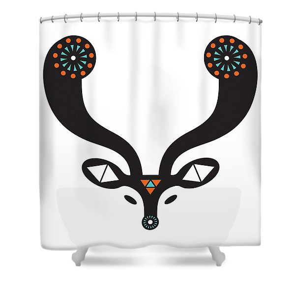 Navajo Deer Shower Curtain