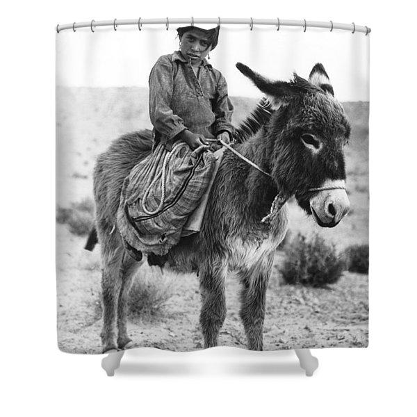 Navajo Herder Shower Curtain