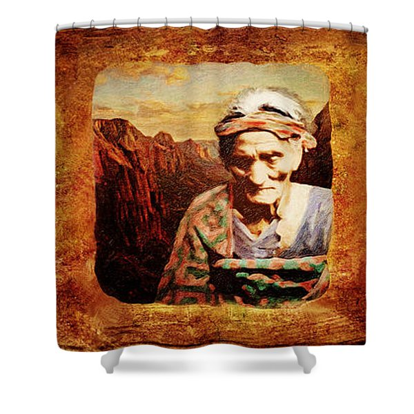 Navajo Triptych  Shower Curtain