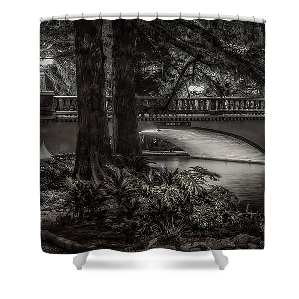 Navarro Street Bridge At Night Shower Curtain