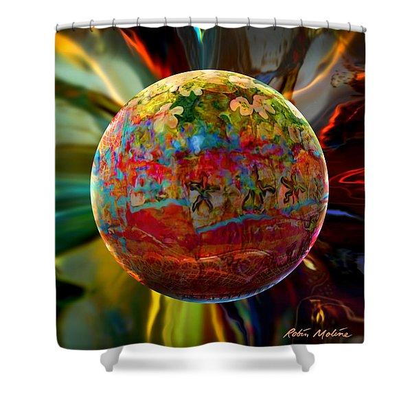 Na'vi Sphere Shower Curtain