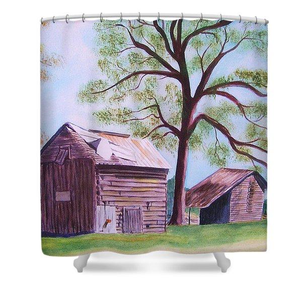 Nc Tobacco Barns Shower Curtain