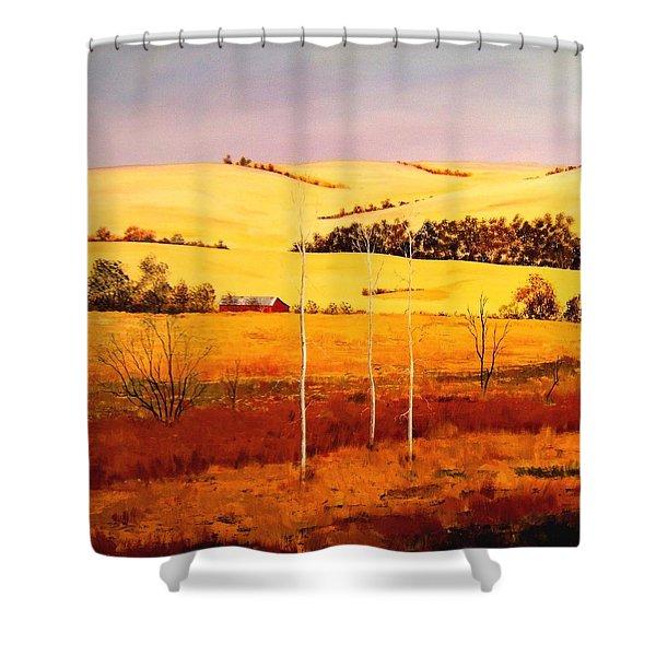 Nebraska Plains Shower Curtain