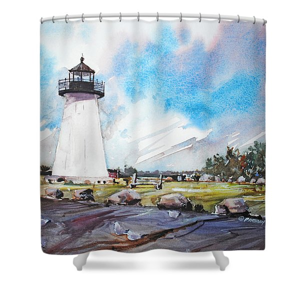 Ned's Point Light Shower Curtain