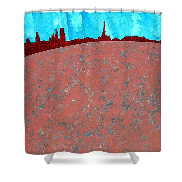 Needles And Dunes Original Painting Shower Curtain