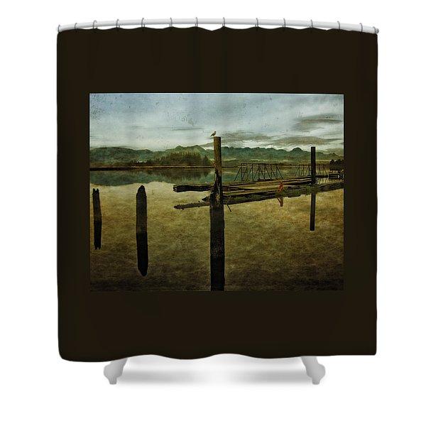 Nehalem Bay Reflections Shower Curtain