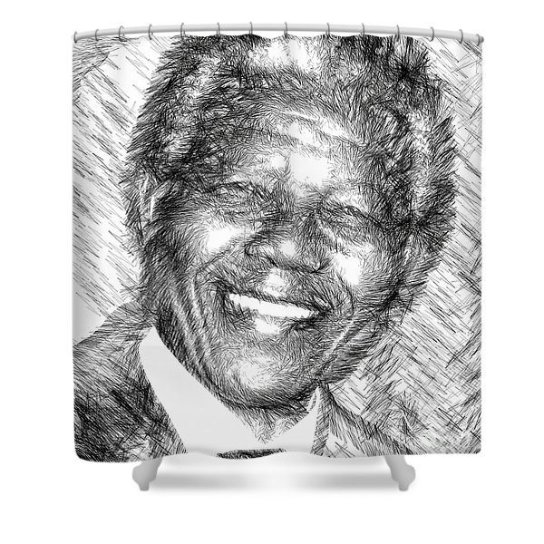 Nelson Mandela Shower Curtain