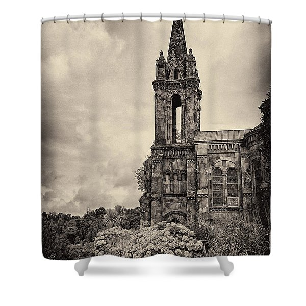 Neo Gothic Chapel Shower Curtain