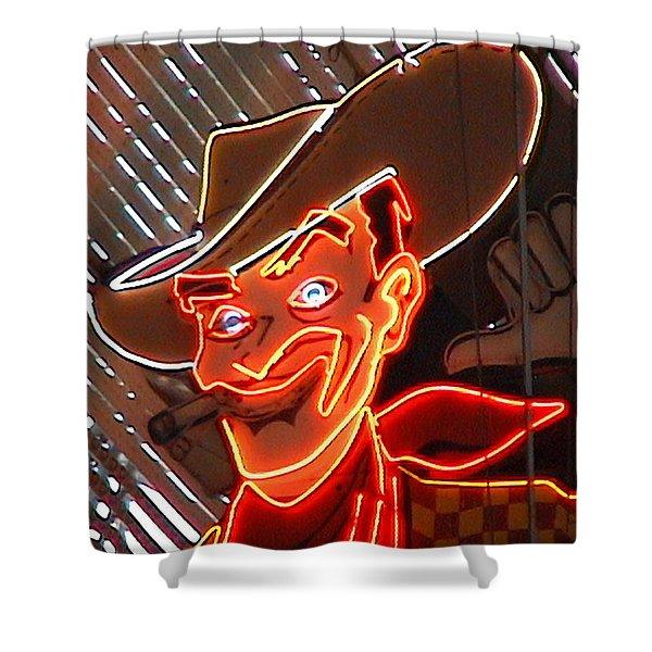 Neon Cowboy Of  Las Vegas Shower Curtain