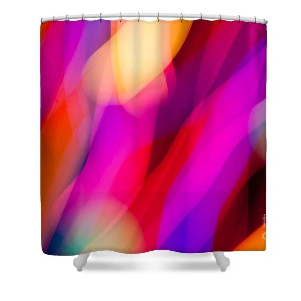 Neon Dance Shower Curtain
