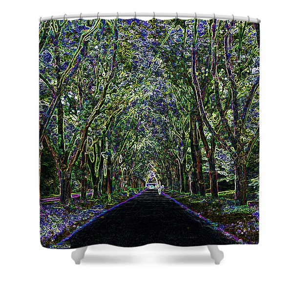 Neon Forest Shower Curtain