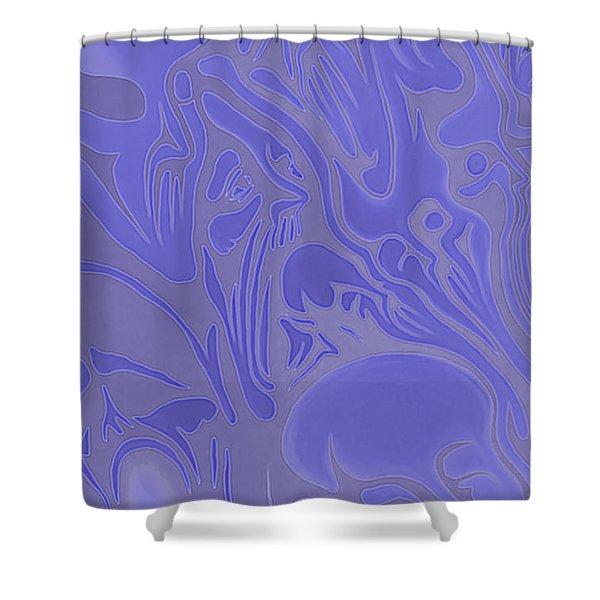 Neon Intensity Shower Curtain