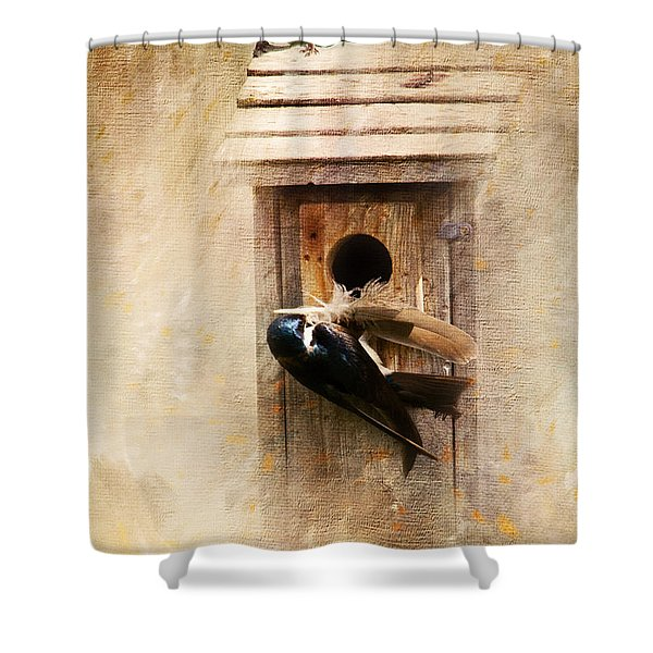 Nest Prepping Shower Curtain