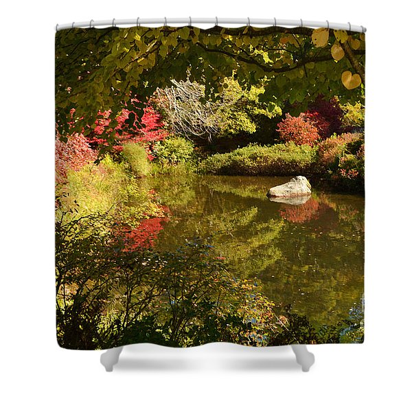 New England Fall Colors Shower Curtain