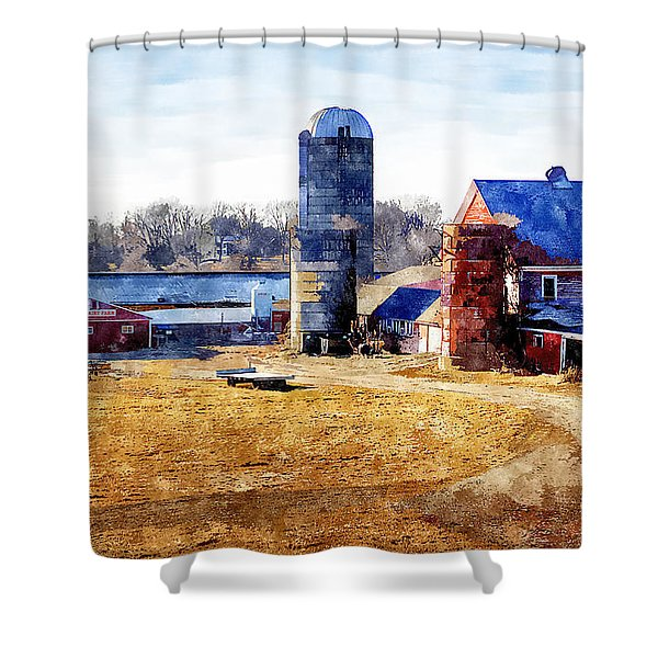 New England Farm 2 Shower Curtain
