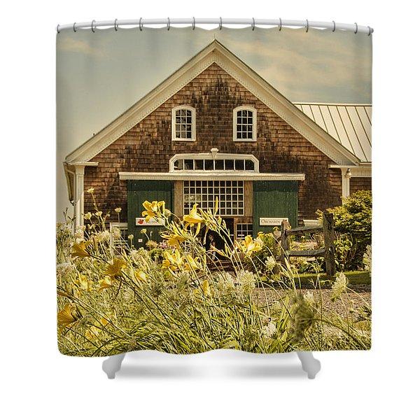 New England Farmhouse Shower Curtain