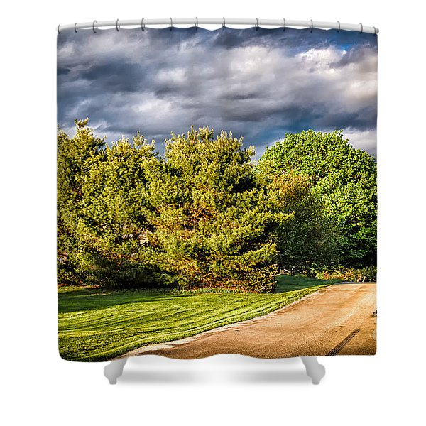 New England Spring 52 Shower Curtain