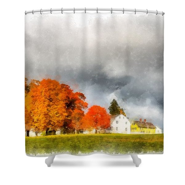 New England Village Shower Curtain
