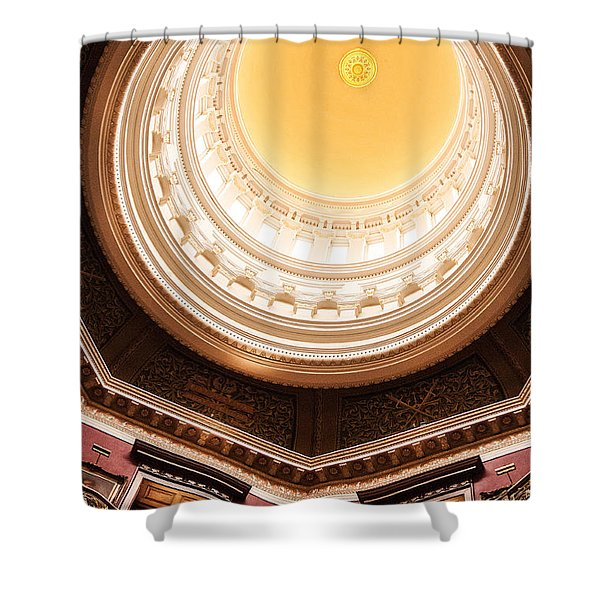 New Jersey Statehouse Dome Shower Curtain