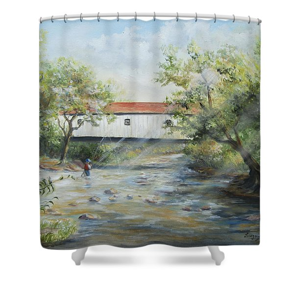 New Jersey's Last Covered Bridge Shower Curtain