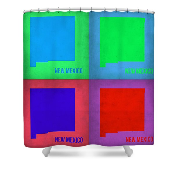 New Mexico Pop Art Map 1 Shower Curtain