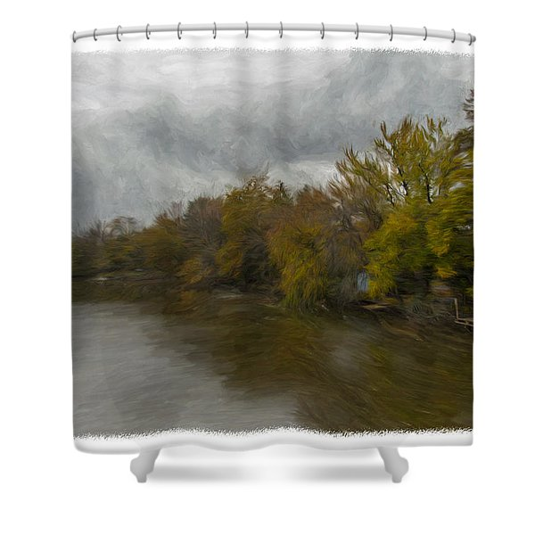 New Milford By Water Side Shower Curtain