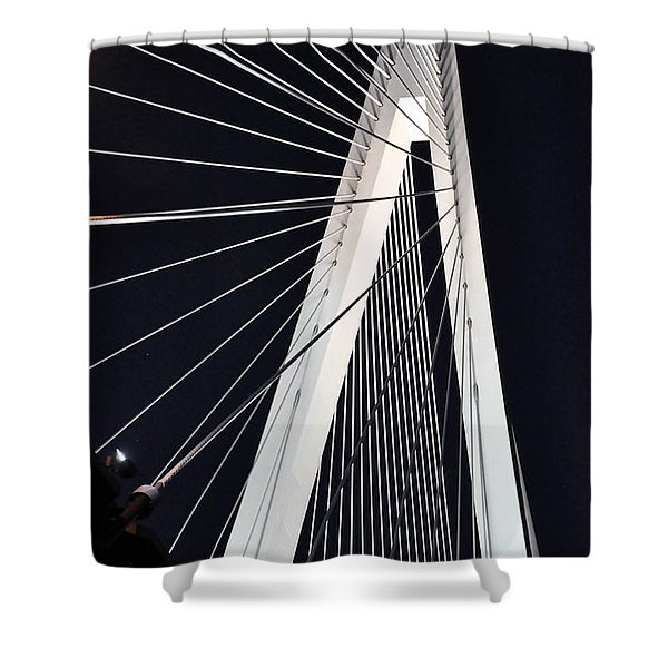 New Mississippi River Bridge Shower Curtain