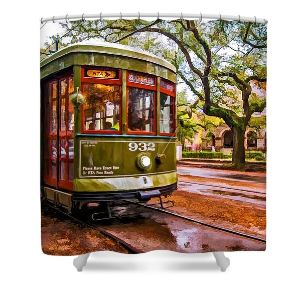 New Orleans Classique Oil Shower Curtain