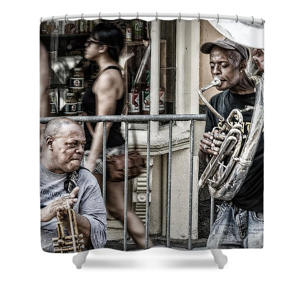 New Orleans Street Jam Shower Curtain