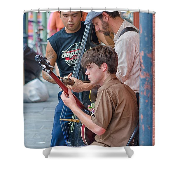 New Orleans Street Trio Shower Curtain