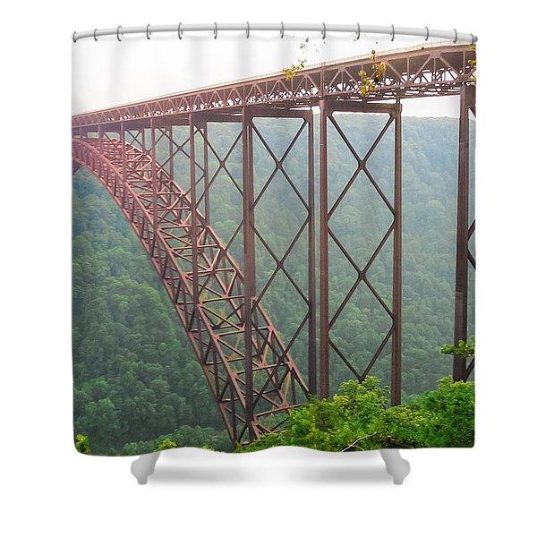 New River Gorge Bridge   Shower Curtain